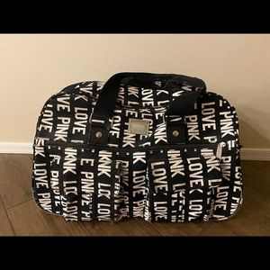 Victoria's Secret PINK Rolling Duffle Bag Luggage
